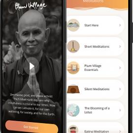 Nieuwe versie Plum Village App sterk uitgebreid